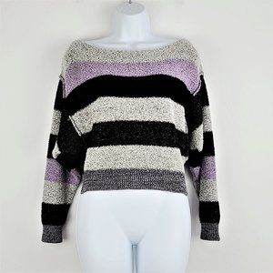 Free People Sweater XS Cropped Long Sleeve